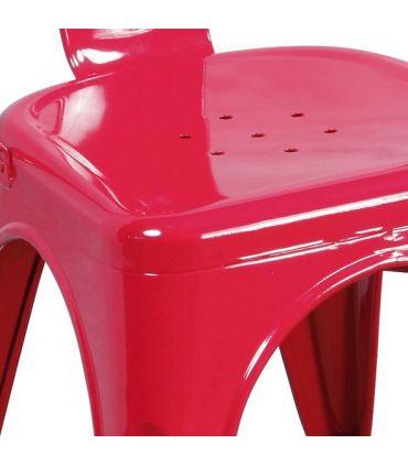 Set de 4 Sillas de Estilo Industrial : Modelo TOLT Roja