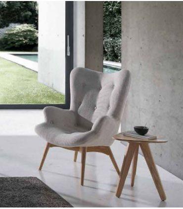 Butaca Sillón de madera tapizado : Modelo TIRSO