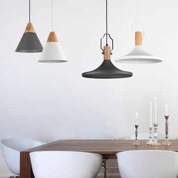 lamparas de techo de estilo nordico modelo Bicones