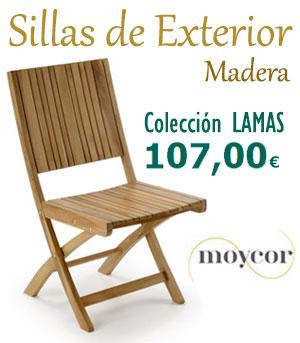 Sillas de madera para exterior colección Lamas