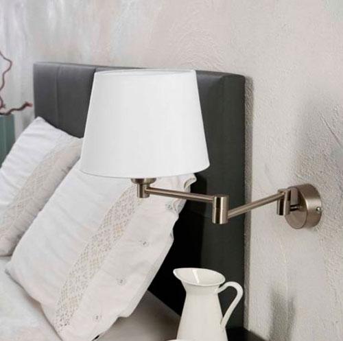 Aplique Articulado de Metal para Dormitorios : Modelo NUBILA