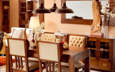 Ideas de decoración colonial para el hogar en madera de caoba americana