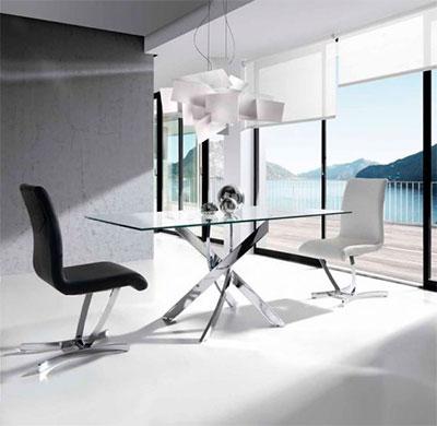 Mesa de Acero y Cristal templado : Modelo RUBICON
