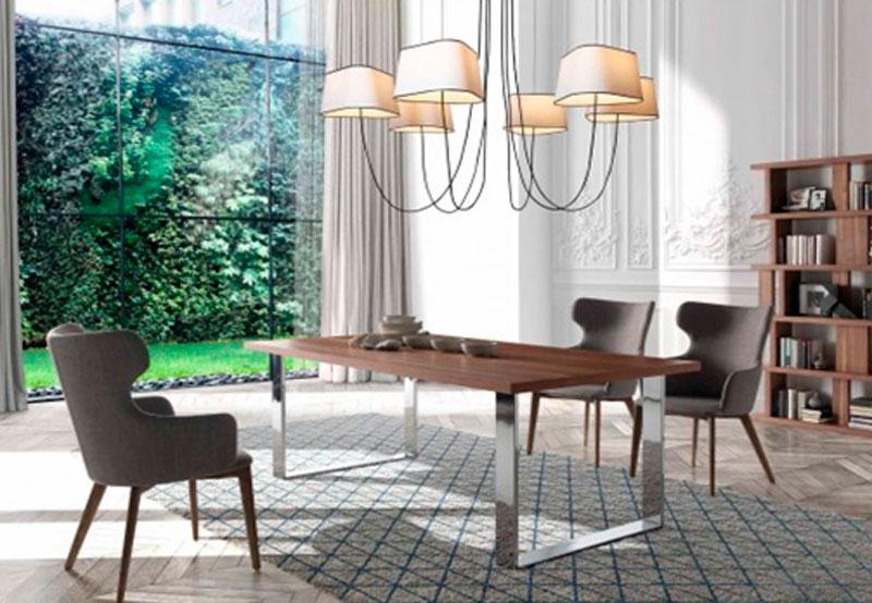 Decoración con muebles de acero en el hogar