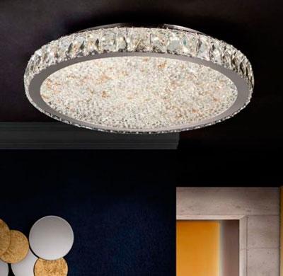 Plafones Led con Cristal Facetado : Colección DANA GR