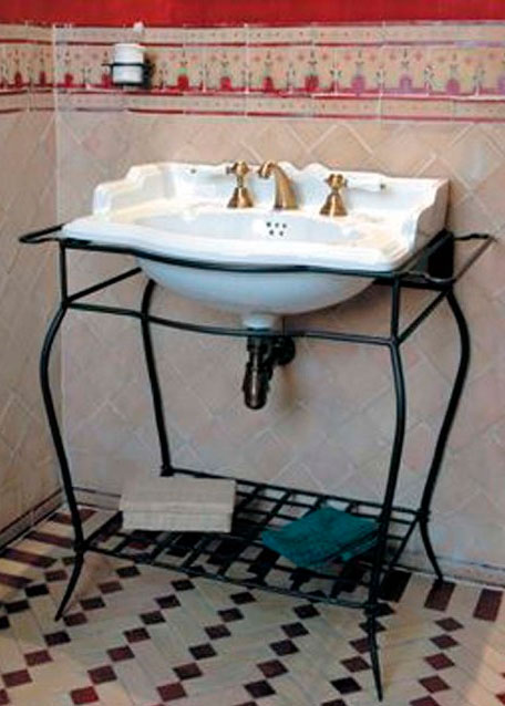 Lavabo de baño con mueble de forja modelo Chicago
