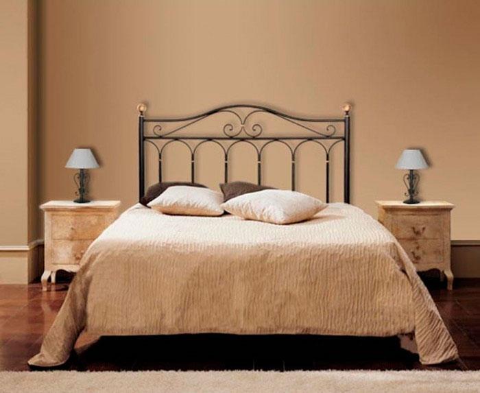 Cabecero de forja artesanal para camas individuales o de matrimonio