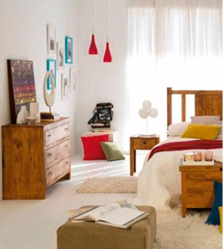 Cómoda madera de pino para Dormitorios