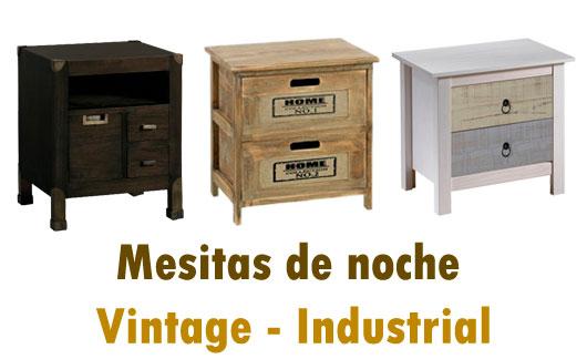 Mesitas de noche estilo vintage - industrial