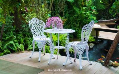 Forja, aluminio: un toque clásico para tus muebles de exterior