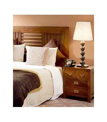 Mesitas de dormitorio rústicas y coloniales