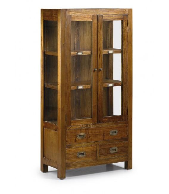 Mueble con Vitrina estilo colonial