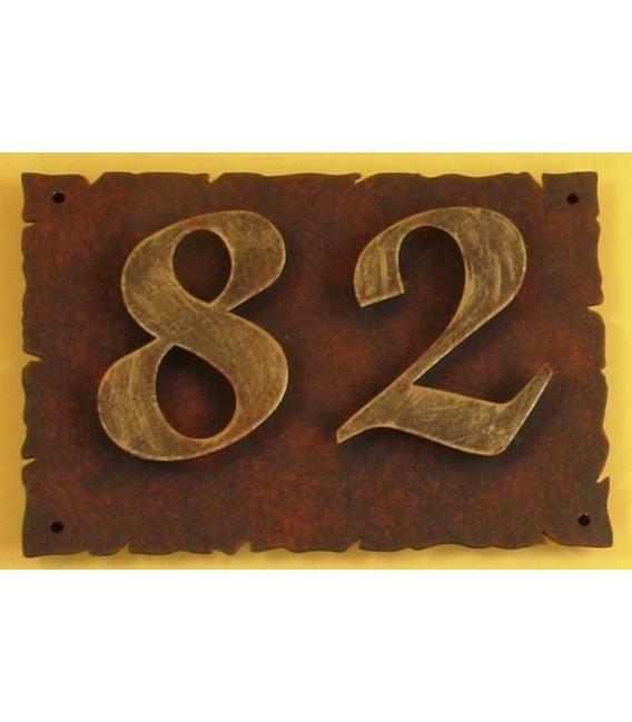 Placa con números